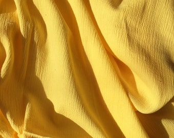 XL 44X44  Bright Yellow Baby Muslin Swaddling Blanket - Light & Airy - Perfect Light Weight Blanket for Swaddling -  Great Baby Shower Gift