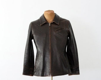SALE 1970s men's leather jacket by John Michael,