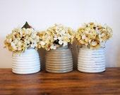 Painted Honey Pot jars, pick your colors, summer home decor, table centerpiece, table decor, summer decor, home decor, flower vase
