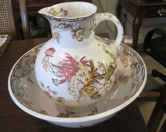 Vintage English Bowl and Pitcher