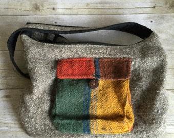 Gray Wool Bag - Small Purse Festival