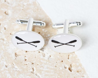 Rowing Cufflinks, Rowing Gifts, Rowing Paddle Cufflinks, Rowers, Rowing