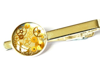 Tie pin, Silver tie pin, Steampunk Tie clip, Silver tie clip, tie clip, silver tie bar, gifts for dad,gifts for grandad,gift for dad,tie bar