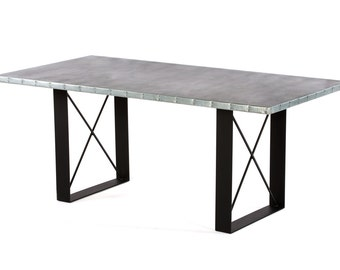 Zinc Table Zinc Dining Table - The Soho Zinc Dining Table