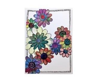 Paper Flower Garden Series on White (PFGW-0005)