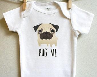 Pug baby clothes, Pug baby bodysuit, baby boy clothes, baby girl clothes, baby shower gift