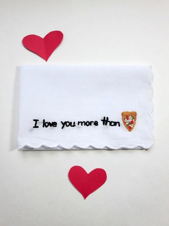 Funny valentine handkerchief i love you hankie