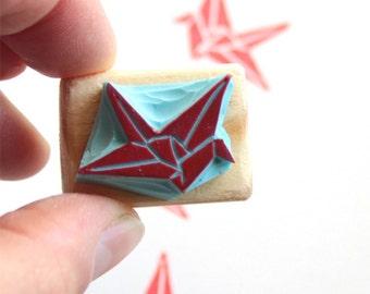 origami paper crane etsy. Black Bedroom Furniture Sets. Home Design Ideas