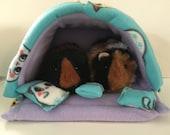 Guinea pig bed, guinea pig hideout, guinea pig cozy, pet hideout, pet bed, guinea pig accessories, guinea pig fleece, small pet bed