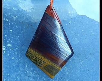 Iron Tiger'eye Pendant Beads,Small Bead,33x22x4mm,4.5g