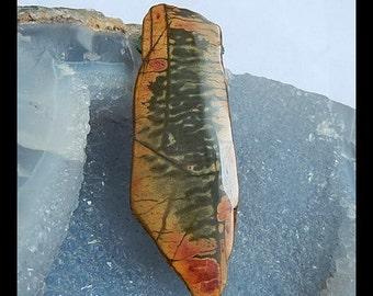 Nugget Multi Color Picasso Jasper Pendant Bead,Jasper Bead,66x24x9mm,26.65g