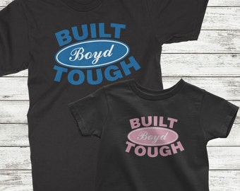 Daddy and Daughter Shirts, Daddy daughter shirts, Built Ford Tough, Matching Dad and daughter, Father daughter shirts, Custom design