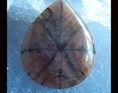 New,Andalusite Gemstone Cabochon,40x32x6mm,13.73g