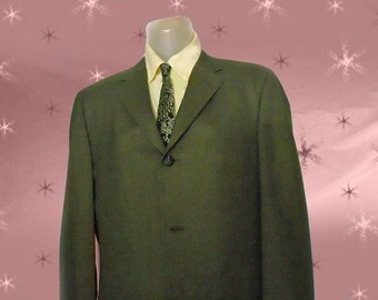 Men's Vintage Suit Jacket - Early 1960s James Bond - Rat Pack - Thin Lapels