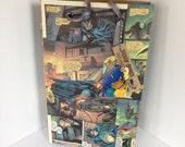 Batman Recycled Comic Book / Large gift bag / repurposed comic / upcycled gift bag