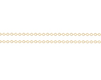 14Kt Gold Filled 1mm Cable Chain - 20ft Strong and Heavy chain Made in USA 20% discounted Lowest Price  wholesale quantity (5453-20)/1