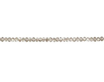 Crystal Smoke Luster Rondelle Bead 4.25x6mm - 1 Strand Wholesale price (9141)/1