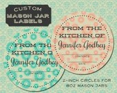 Handmade Retro Style Custom Mason Jar Labels from Curious London