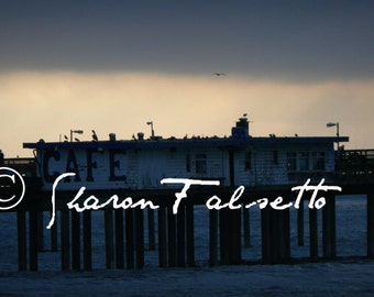 Ocean Beach Cafe on Pier Digital Download by Sharon Falsetto