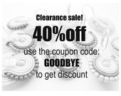 CLEARANCE SALE! 40% OFF coupon code
