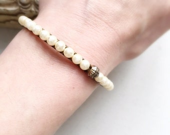 50's Vintage Pearl Covered Bangle
