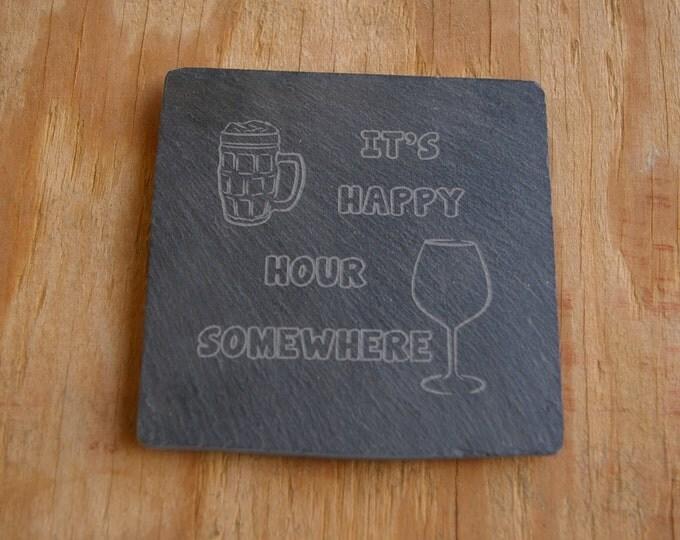 Happy Hour Drink Coasters