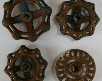 Vintage Industrial Valve Handles,Rich and Rustic Handles Shipping Special-Water Knobs,Faucet Handles-Vinatge Factory-Machine Handles