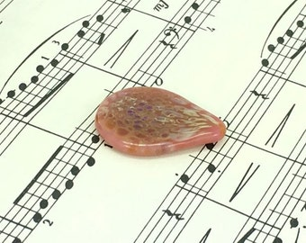 Pink and Golden Glass Guitar Pick- FREE Gift Box