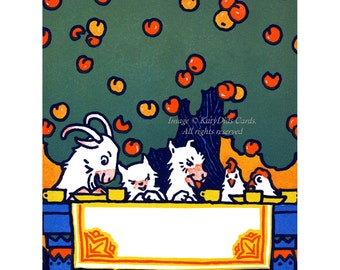Farm Bookplates - Pack of Ten - Goats Chickens Dog Cat - Can Be Personalized