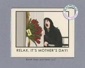 SHINING MOTHERS Day CARD - The Shining - Funny Mothers Day Card - Funny Mom Card - Pop Culture Card - Heres Johnny - Shining Card -Item P031