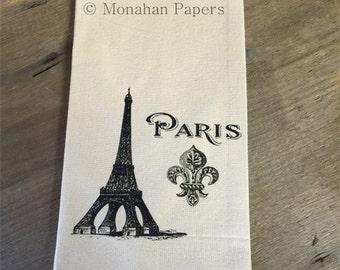 Eiffel Tower Fleur De Lis Tea Towel - Paris - Kitchen - Houseware - European - Gift