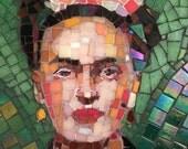 Unique Frida Kahlo mosaic portrait