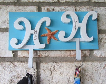 Key Hanger His/Hers Beach Cottage