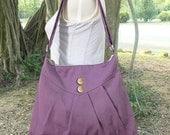 On Sale 10% off purple cross body bag / messenger bag / shoulder bag / diaper bag  - cotton canvas