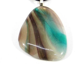 Recycled glass pendant jewellery