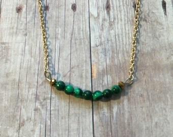 Gorgeous malachite layering necklace