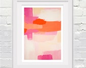 Abstract Fine Art Print in Peach Pink Orange // FREE SHIPPING!
