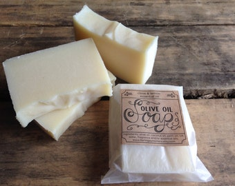 Handmade olive oil soap - with clove & lemon essential oils, vegan