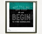 Graphic Design Typography Giclee Poster | Henry David Thoreau Quote - He Said She Said series