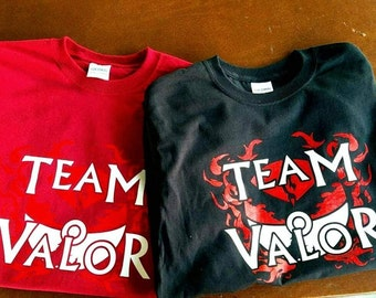 Valor Team T-Shirt - hand printed fan tee