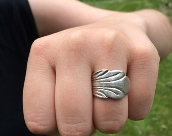 Spoon Ring - Size 7.5 Sterling Silver