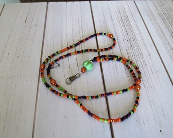 Pretty beaded lanyard for holding your embroidery scissors or security badge or company ID