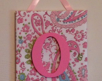 Personalized Initial Brooklyn Pink Paisley Kids Room Wall/Door Hanging M2M Pottery Barn Kids Bedding FREE SHIPPING