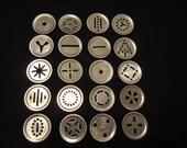 20 Aluminum Cookie Pastry Press Discs