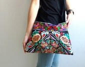 Hmong Old Vintage Style Ethnic Thai Boho Hobo Medium Size Bag