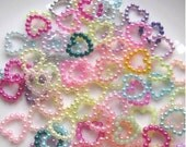 200 pcs of resin Love Heart beads cabochon 11mm mix colors