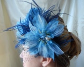 Reserved for Ana - Maid of Honor Fascinator - Blue Bridesmaids Fascinator