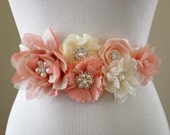 Bridal Sash Belt Wedding Dress Sash Belt Flower Sash Belt Rhinestone Sash Belt Pregnancy Belly Belt Maternity Sash SA029LX