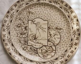 Ridgeway Aesthetic Transferware Plate, Devonshire Spoke on Trent