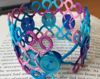 Button and lace cuff